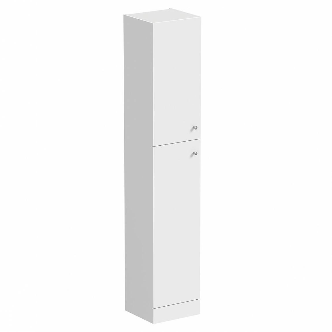 Image of Prague White 2 Door Tall Unit