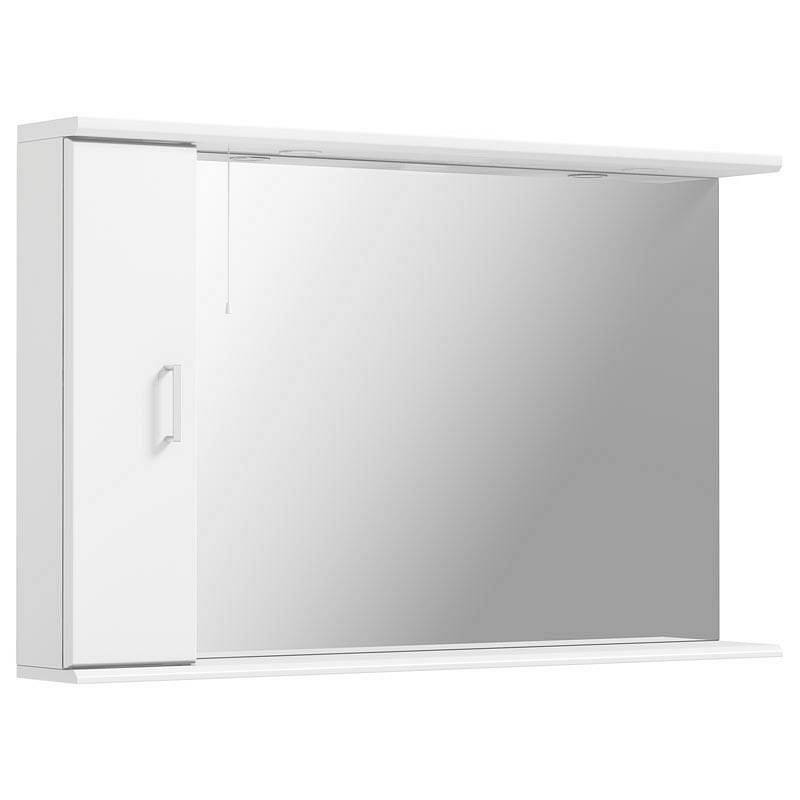 Image of Sienna White 120 Mirror with lights