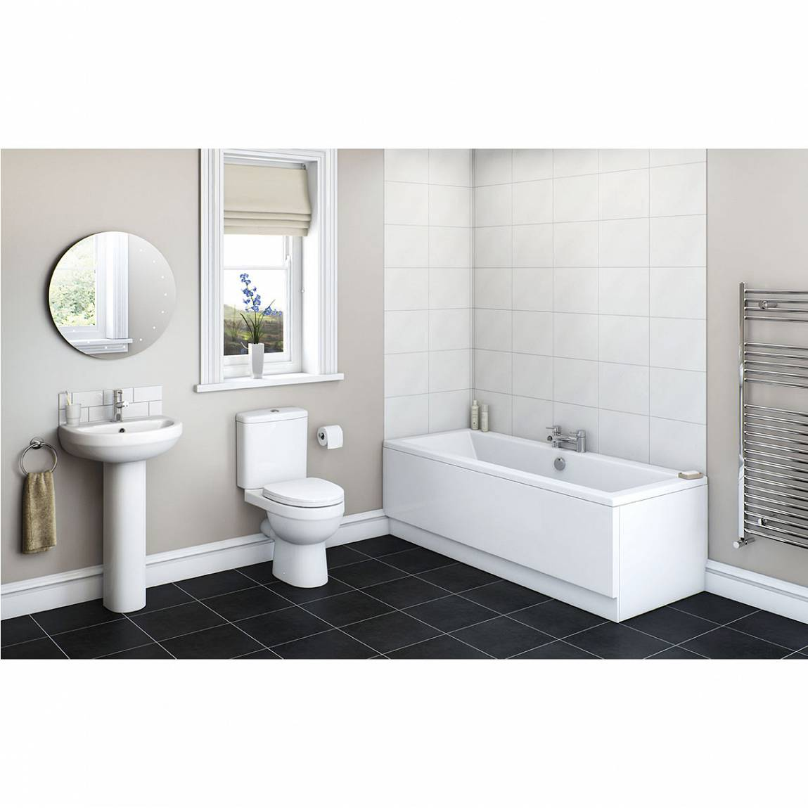 Image of Energy Bathroom Set with Chelsea 1700 x 750 Bath Suite