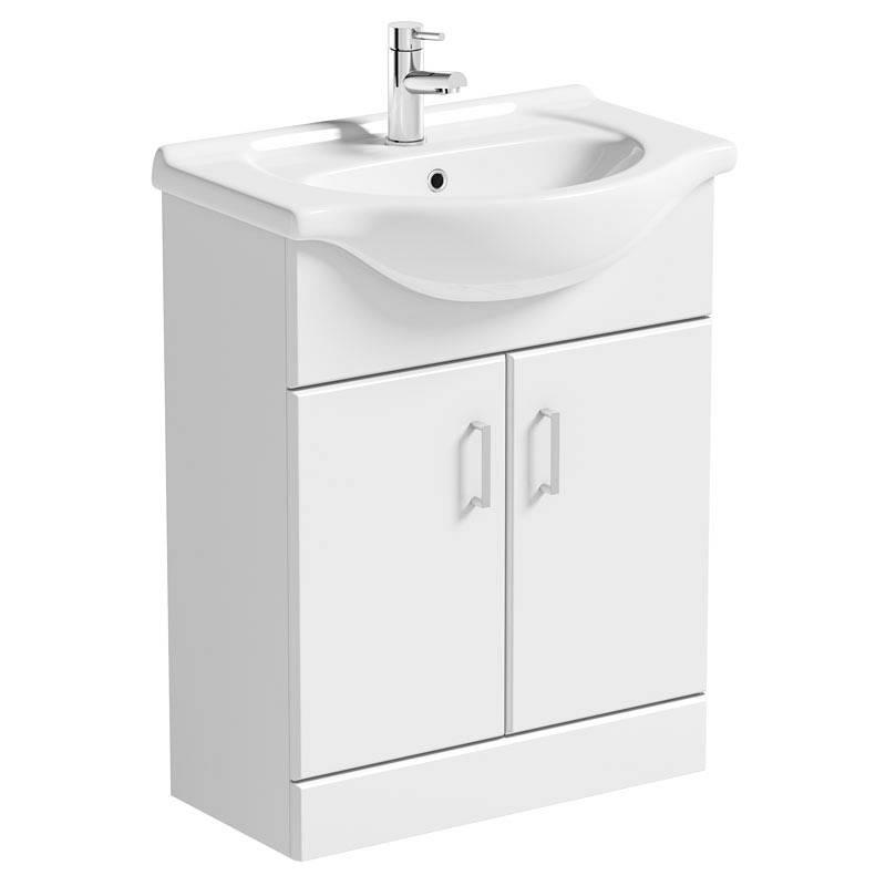 Image of Sienna White 65 Vanity Unit & Basin