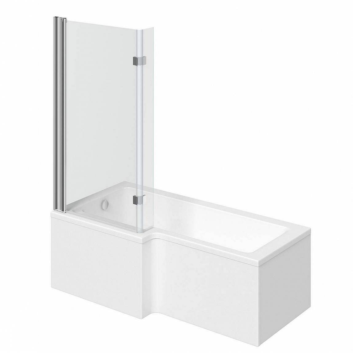 Image of Boston Shower Bath 1700 x 850 LH inc. 8mm Hinged Screen