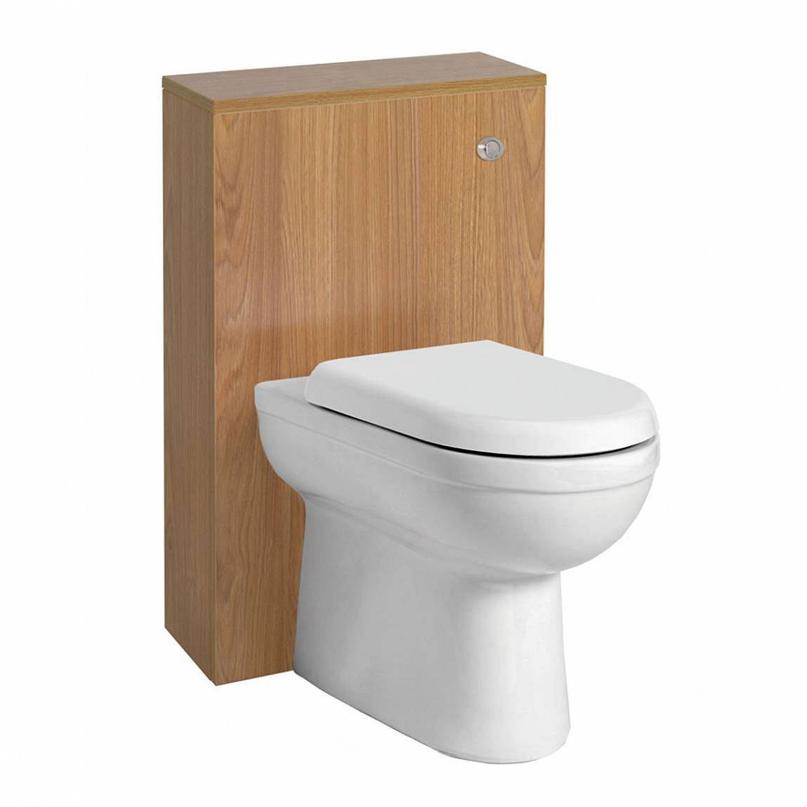 Image of Autograph Back To Wall Toilet inc Seat & Slimline Oak Unit