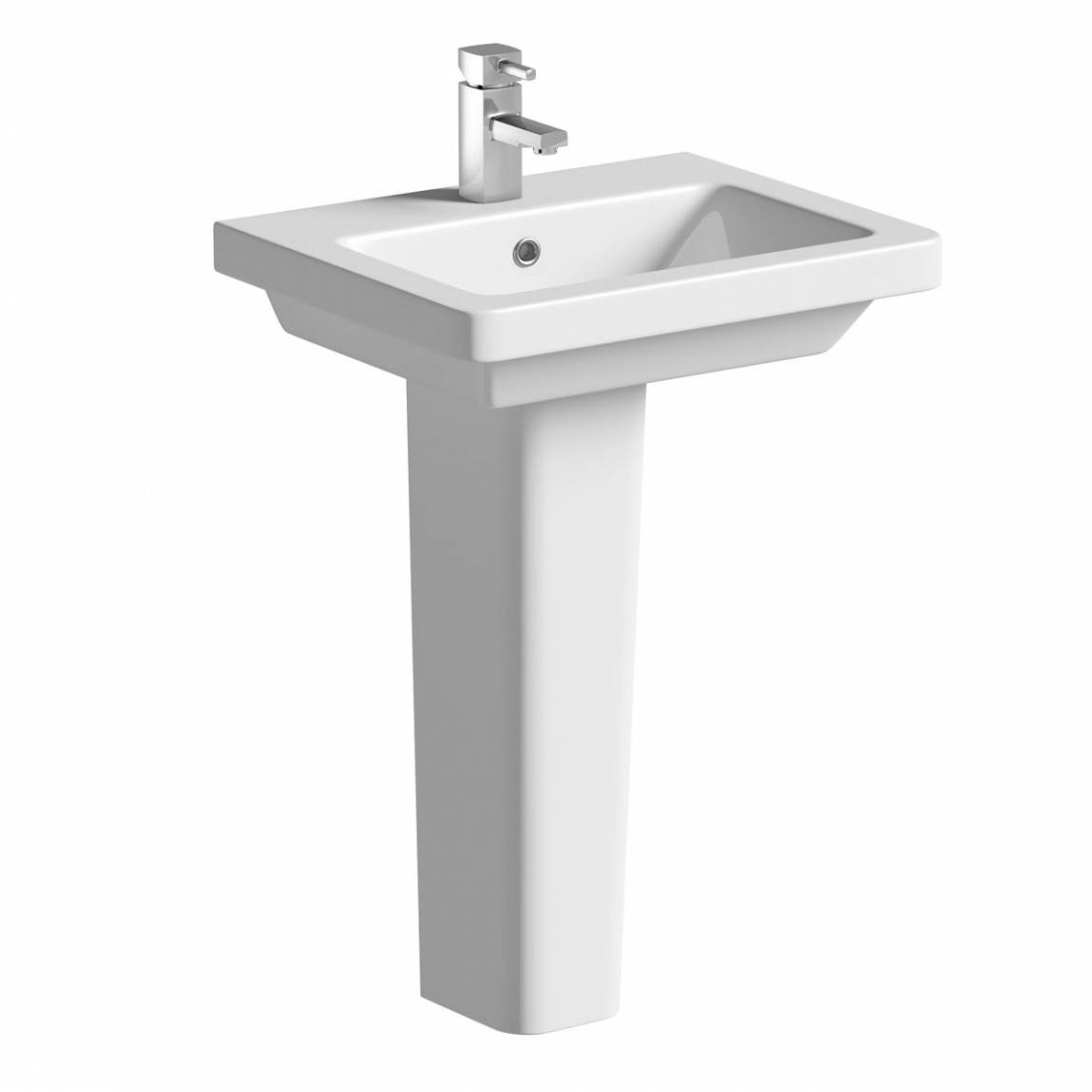 Image of Verso 1TH 550mm Basin & Pedestal
