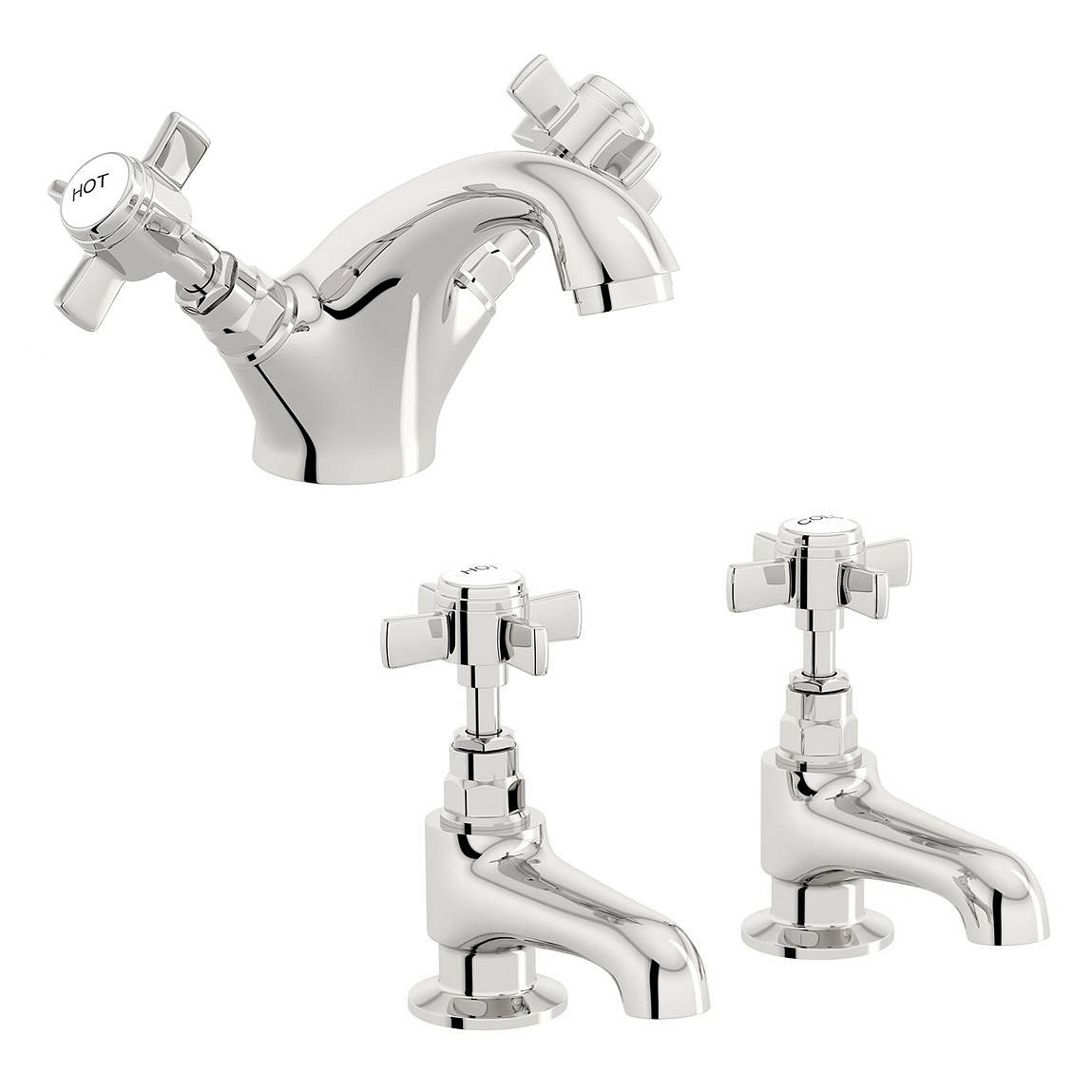 Image of Hampshire Basin Mixer and Bath Tap Pack