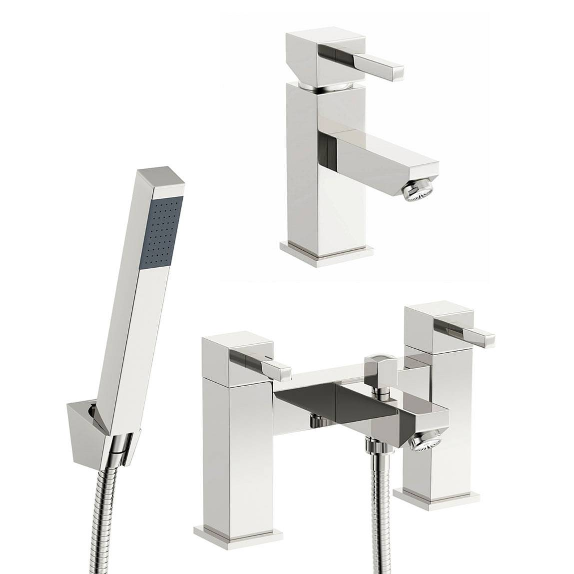 Image of Cubik Basin and Bath Shower Mixer Pack