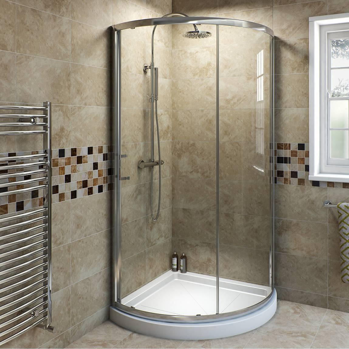 Image of V6 6mm Bow Quadrant Sliding Shower Enclosure 900