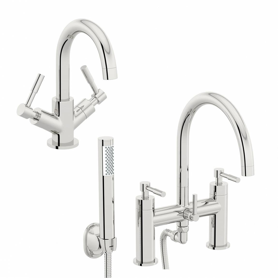 Image of Secta Basin and Bath Shower Mixer Pack
