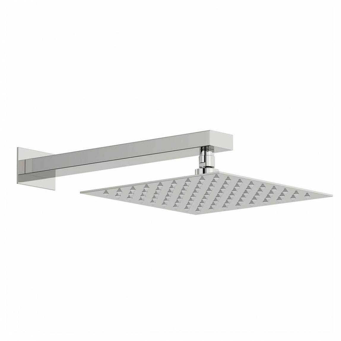 Image of Arcus 250mm Shower Head & Rectangular Wall Arm