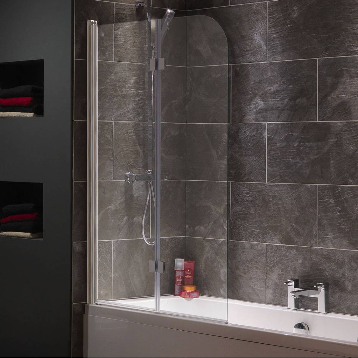 Image of Curved Double Bath Screen
