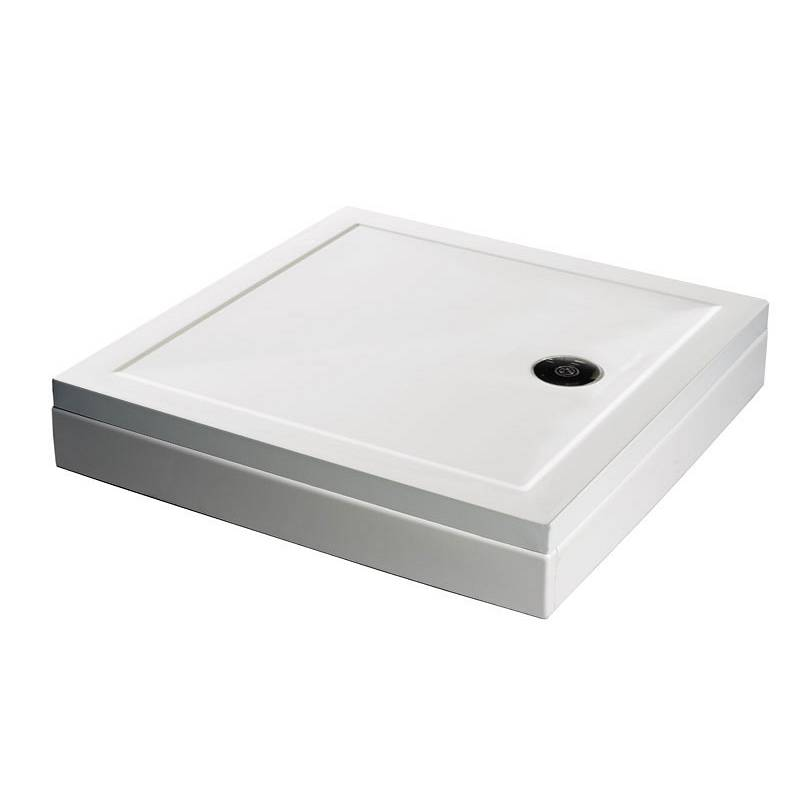 Image of Square Stone Shower Tray & Riser Kit 800 x 800