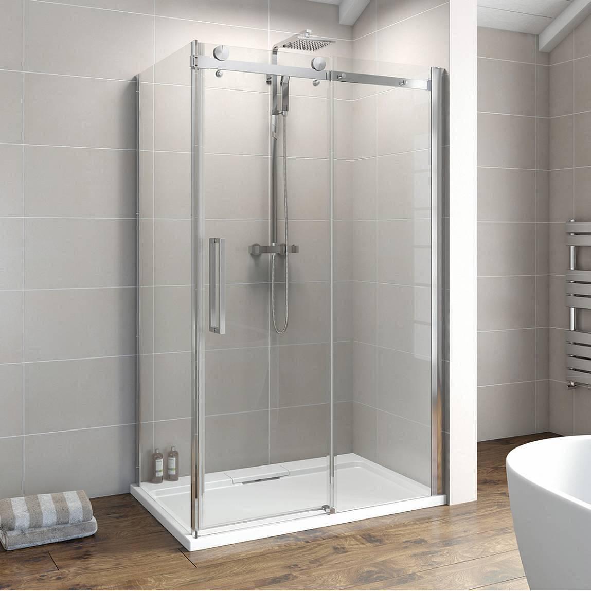 Image of V8+ Frameless Sliding Shower Enclosure 1200 x 900