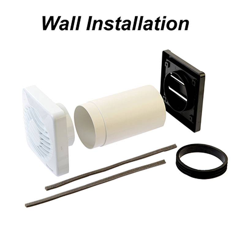 xpelair 4 quot 100mm standard bathroom fan with fitting kit