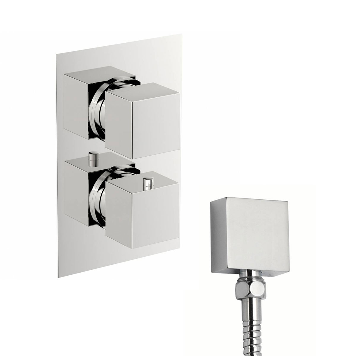 Image of Cubik Square Twin Valve with Diverter Special Offer