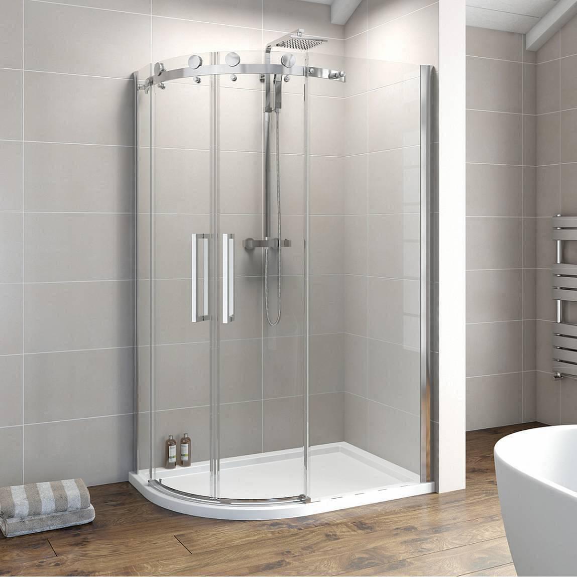 Image of V8+ Frameless Offset Quadrant Shower Enclosure 1200 x 900