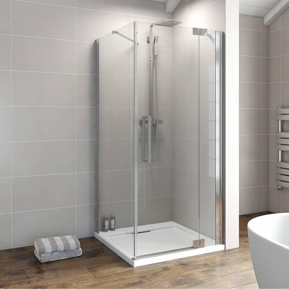 Image of V8+ Frameless Hinged Shower Enclosure 900 RH