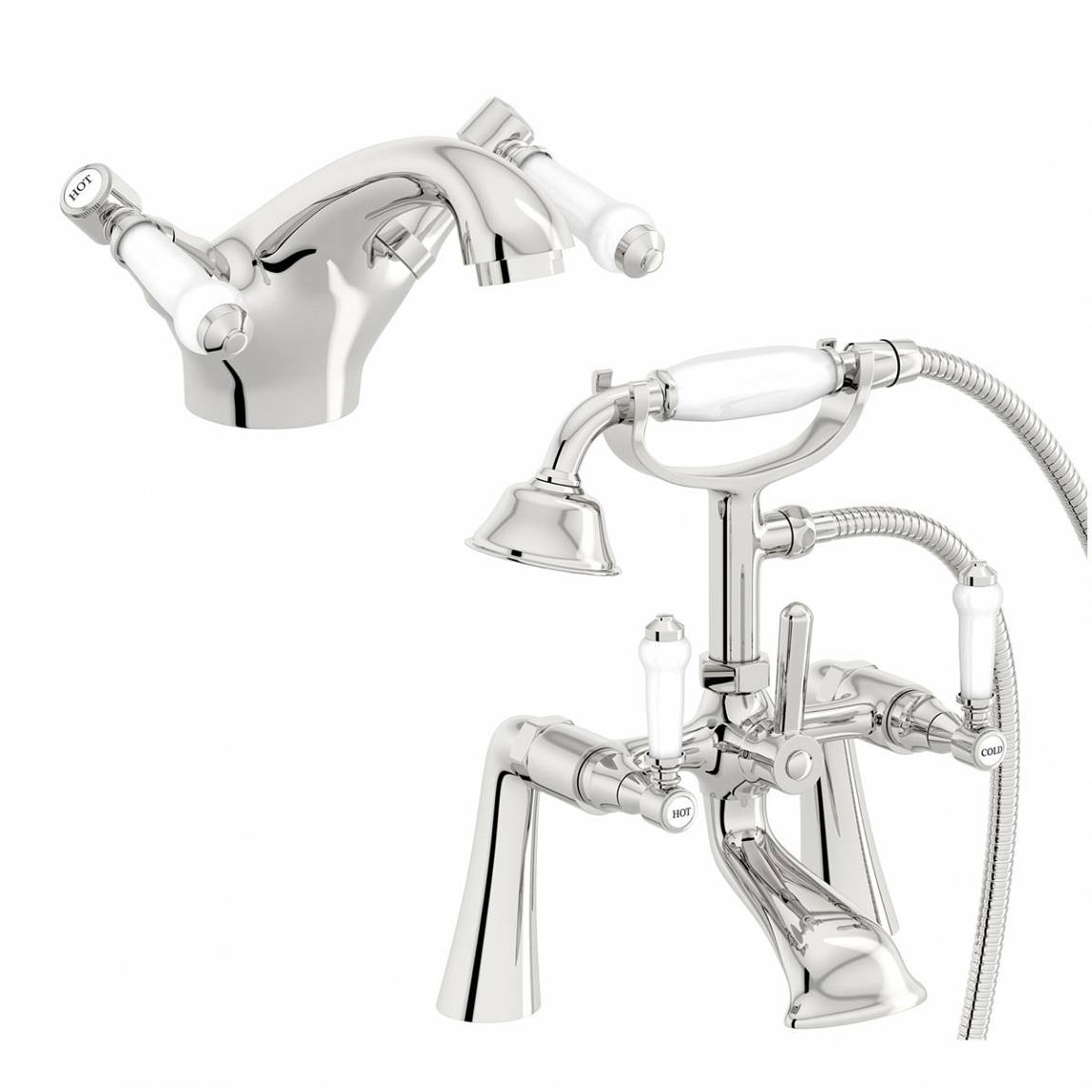 Image of Antonio Basin and Bath Shower Mixer Pack