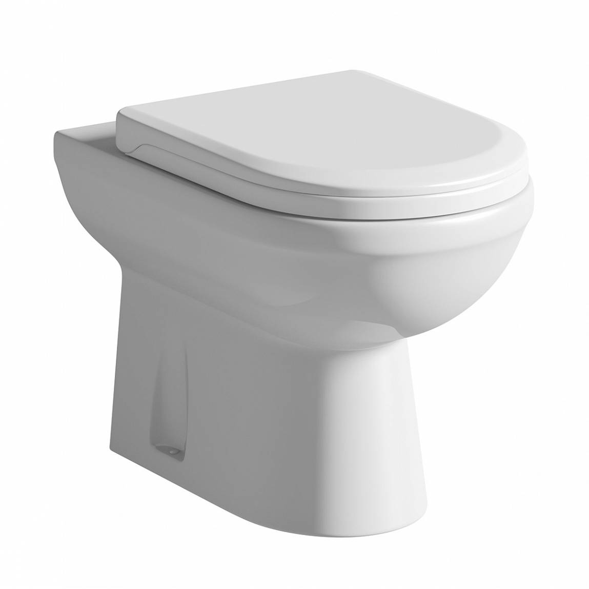 Image of Autograph Back To Wall Toilet exc Seat + Shut Off Valve