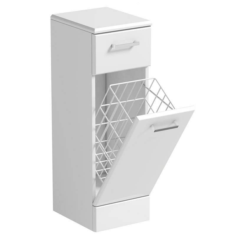 Image of Sienna White Linen Basket 300