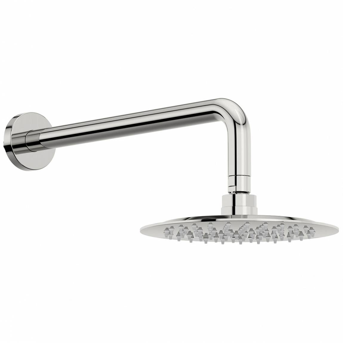 Image of Stratus 200mm Shower Head & Curved Wall Arm