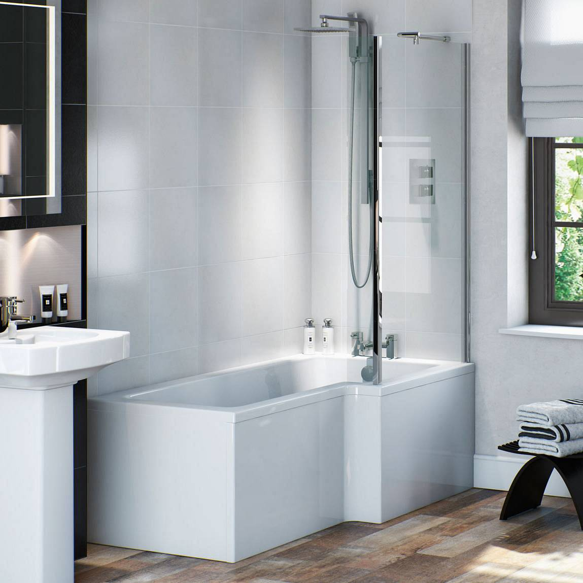 Milan modern shower bath suite kitchen cabinets knobs or pulls