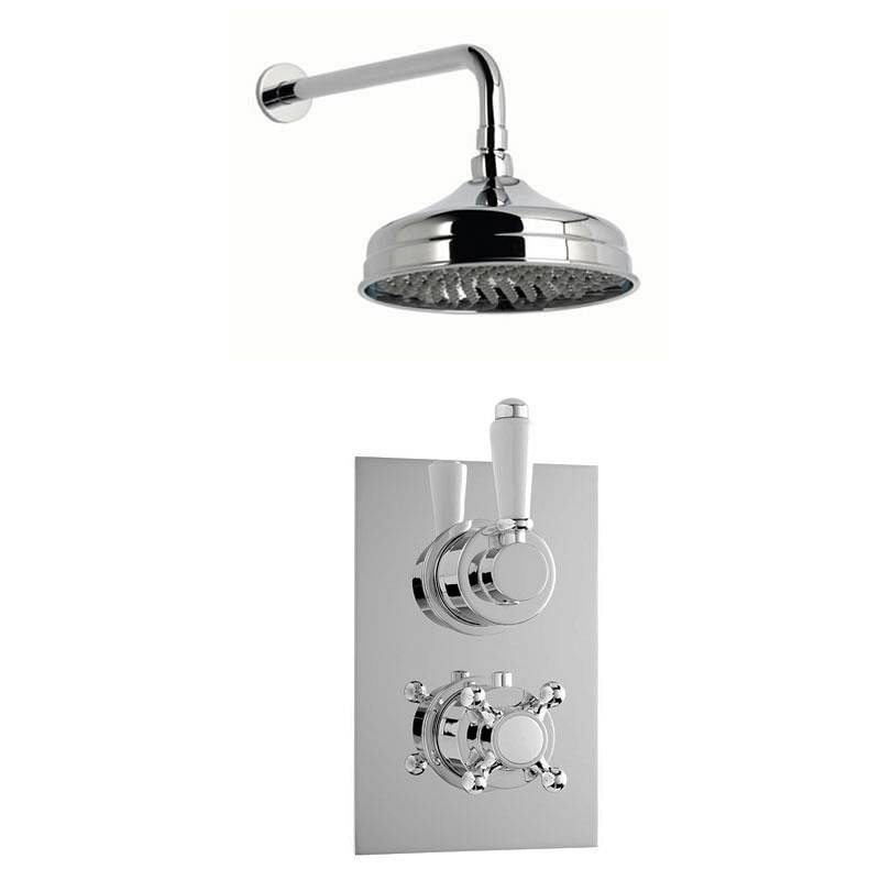 Image of Antonio Thermostatic Valve & Wall Shower Set