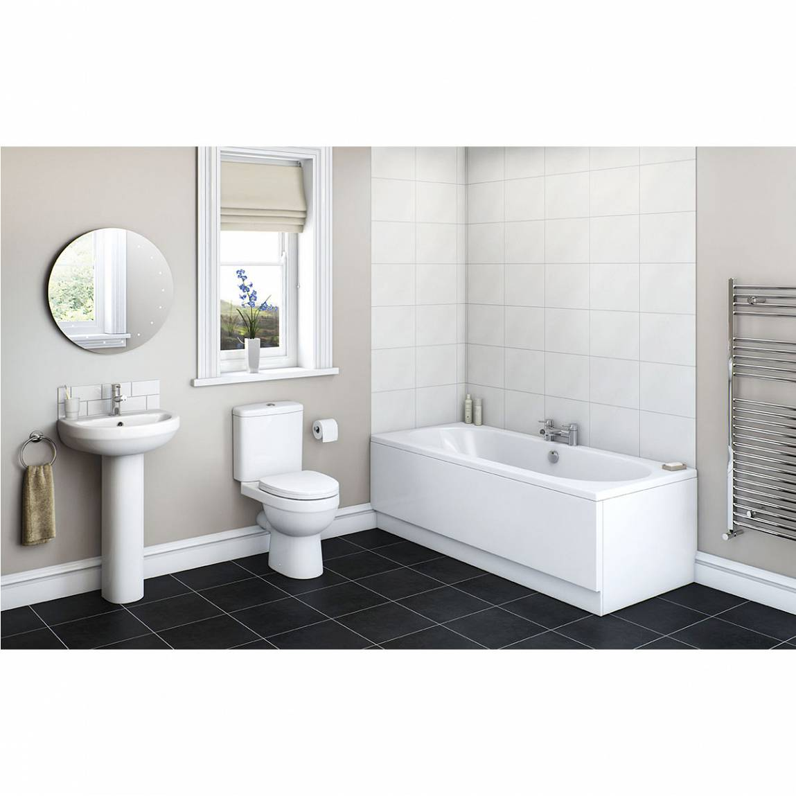 Image of Energy Bathroom Set with Islington 1800 x 800 Bath Suite