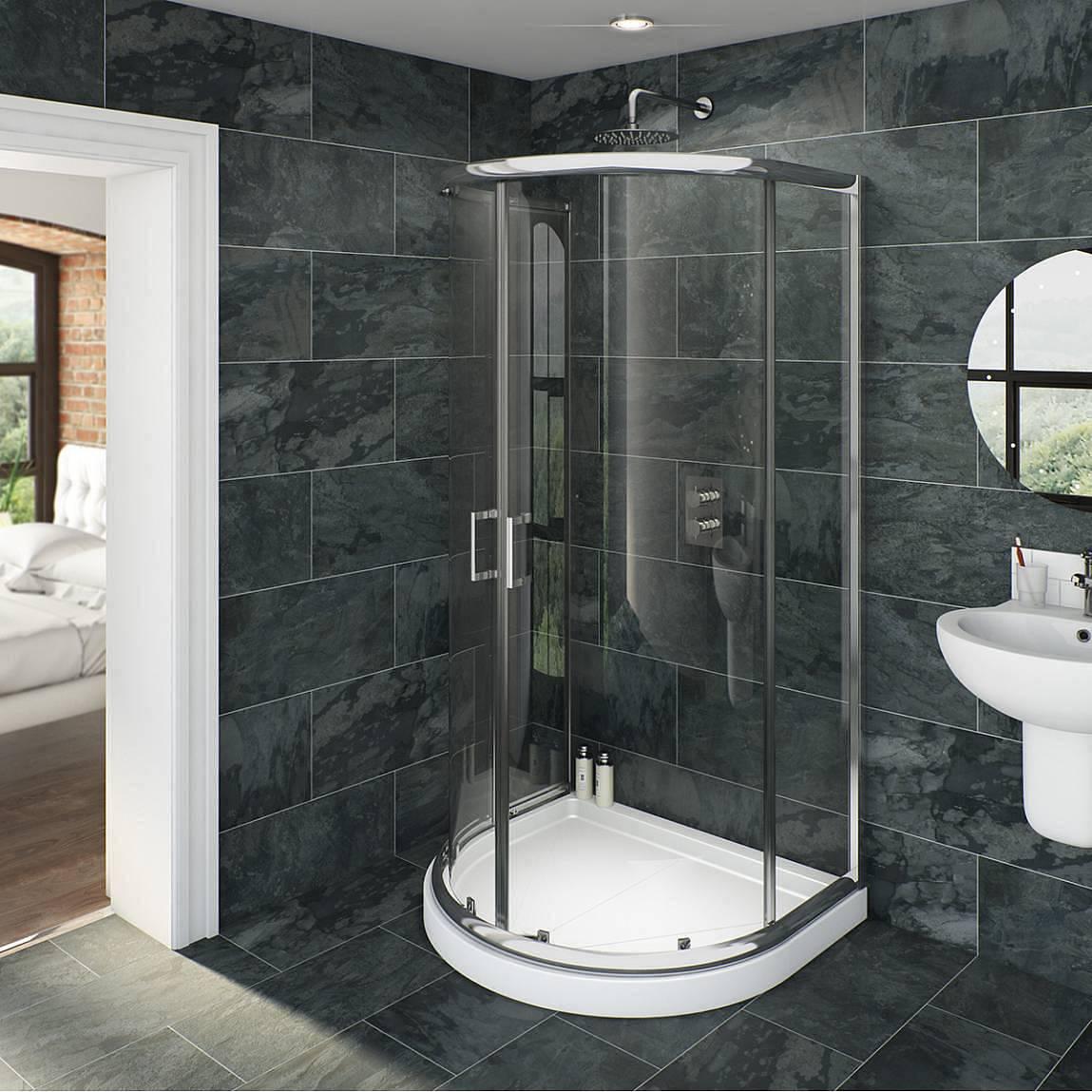 Image of V6 6mm D Shaped Shower Enclosure