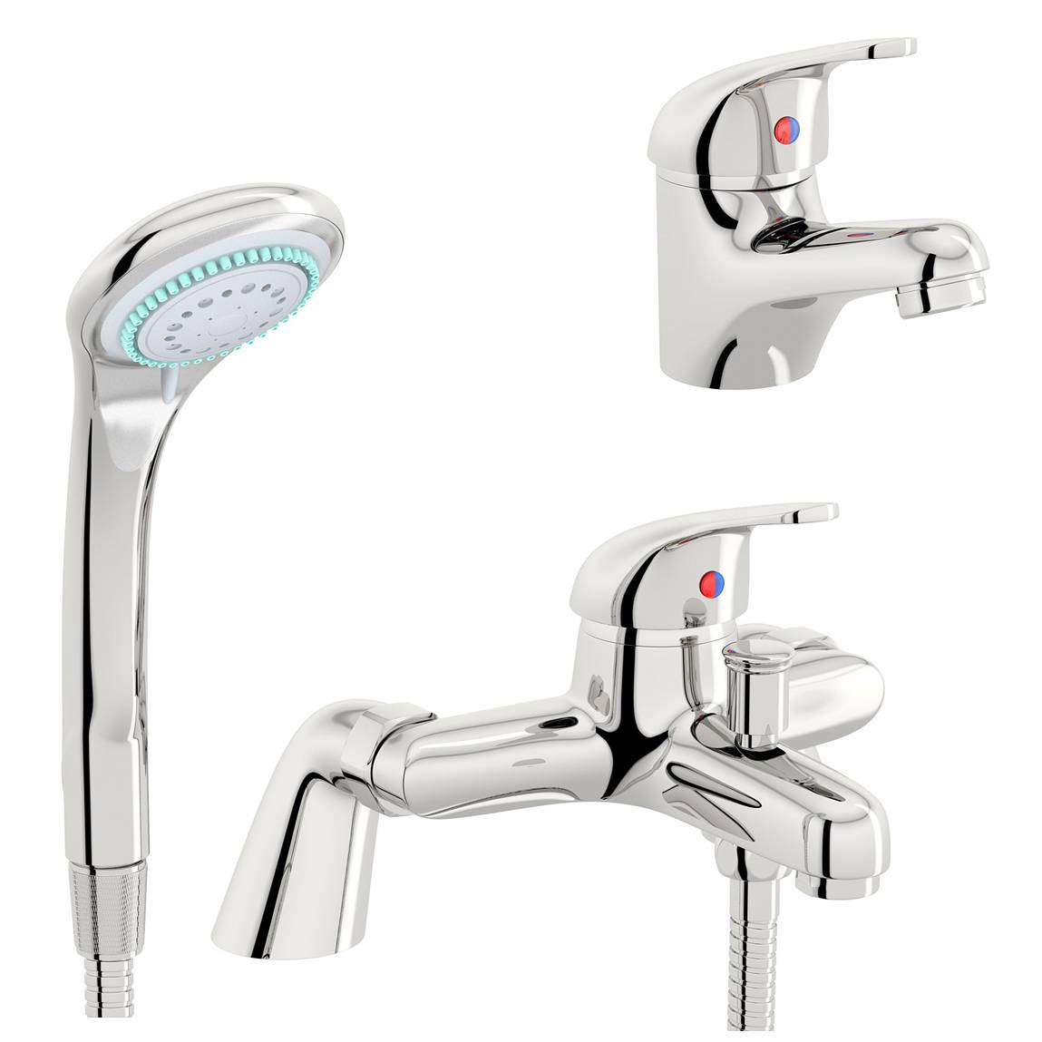 Image of Pulse Basin and Bath Shower Mixer Pack