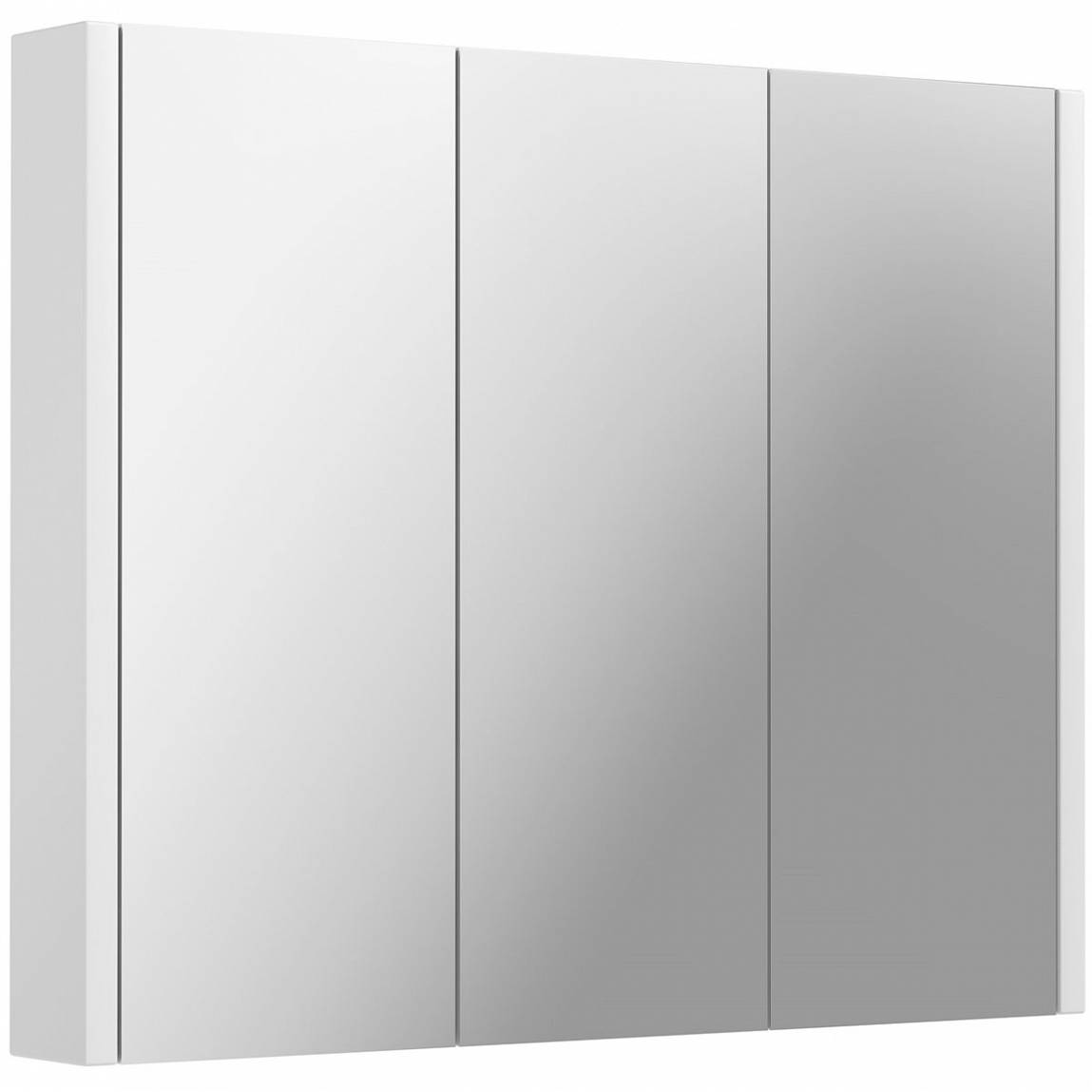Image of Odessa White 3 Door Mirror Cabinet