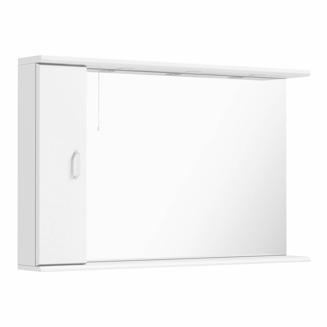 Image of Granada 120 White Mirror with Lights