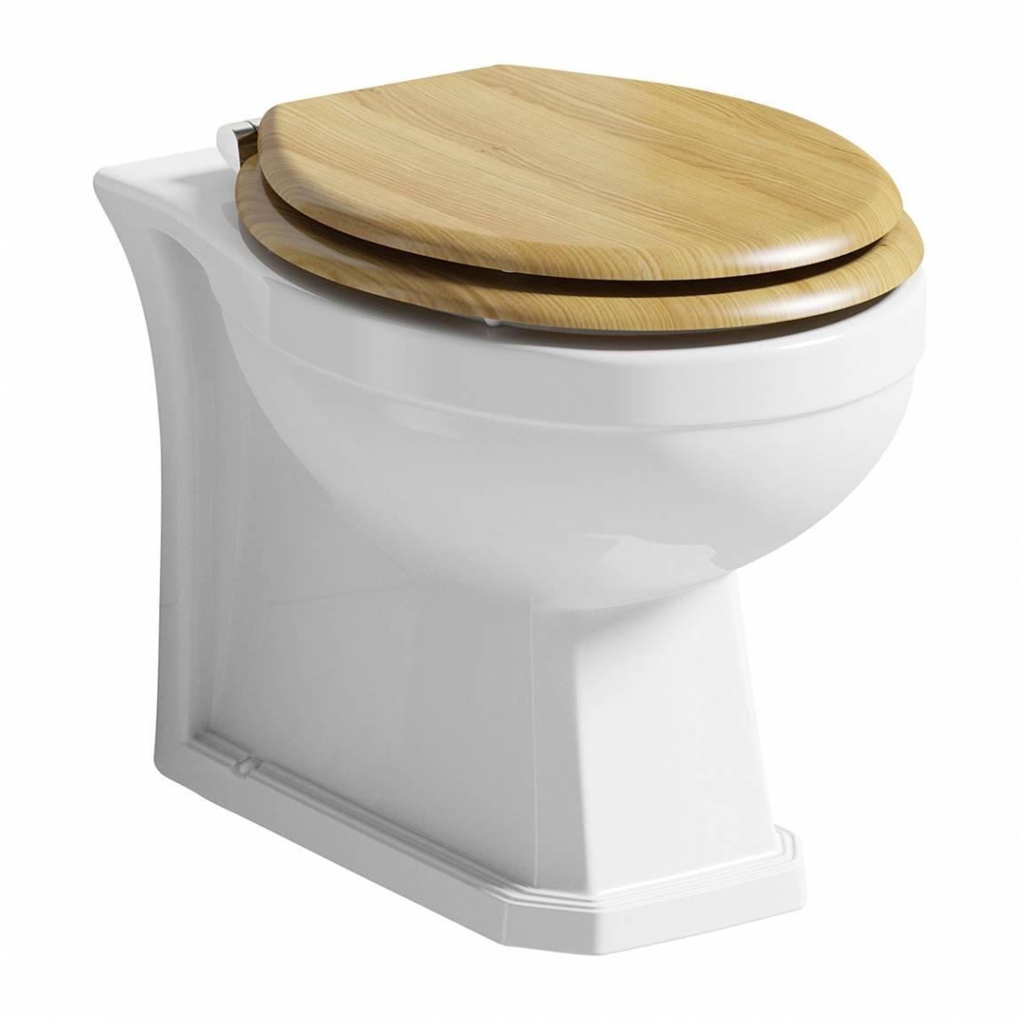 Image of Regency Back to Wall Toilet inc Luxury Solid Oak Seat
