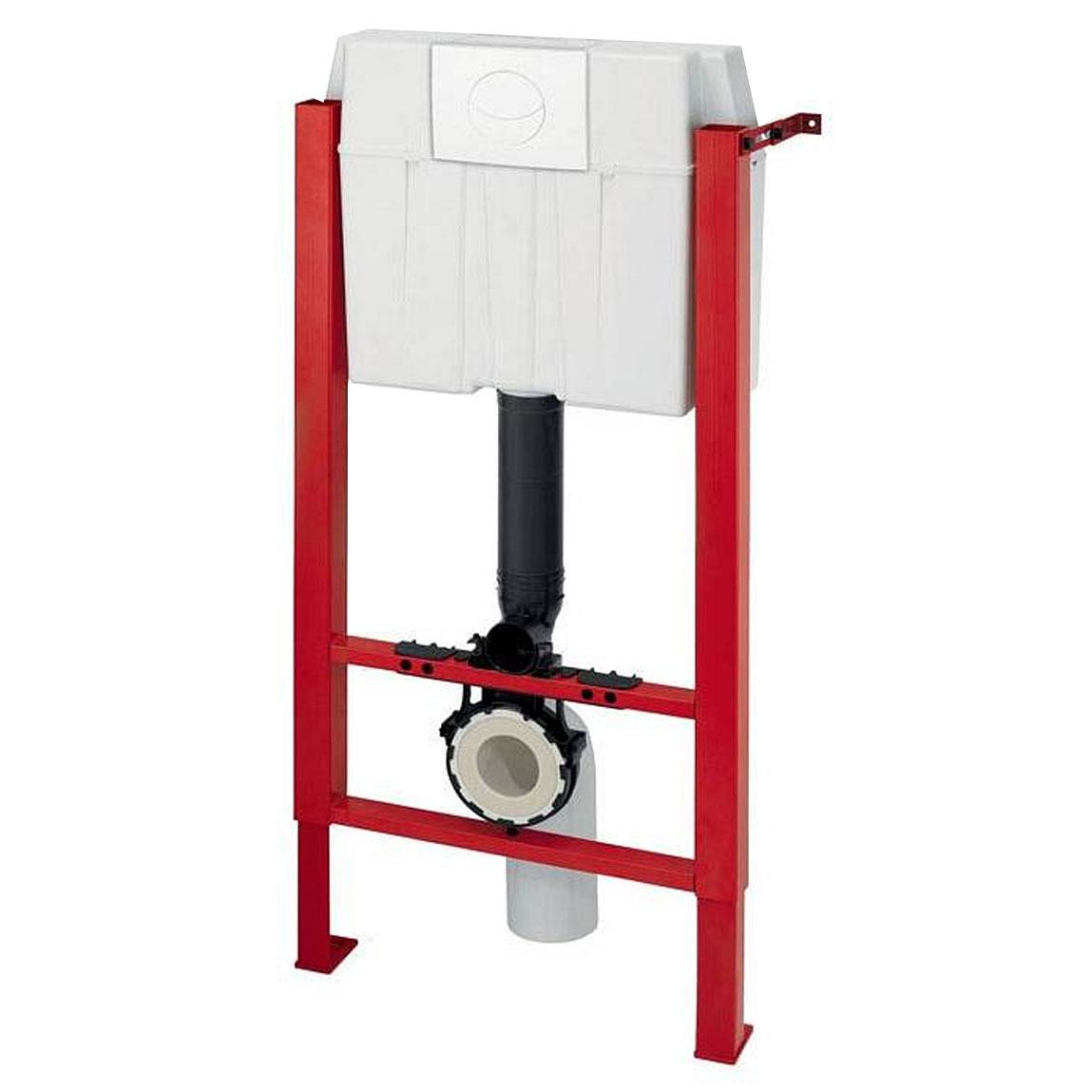 Image of Universal Wall Hung frame inc. push button cistern