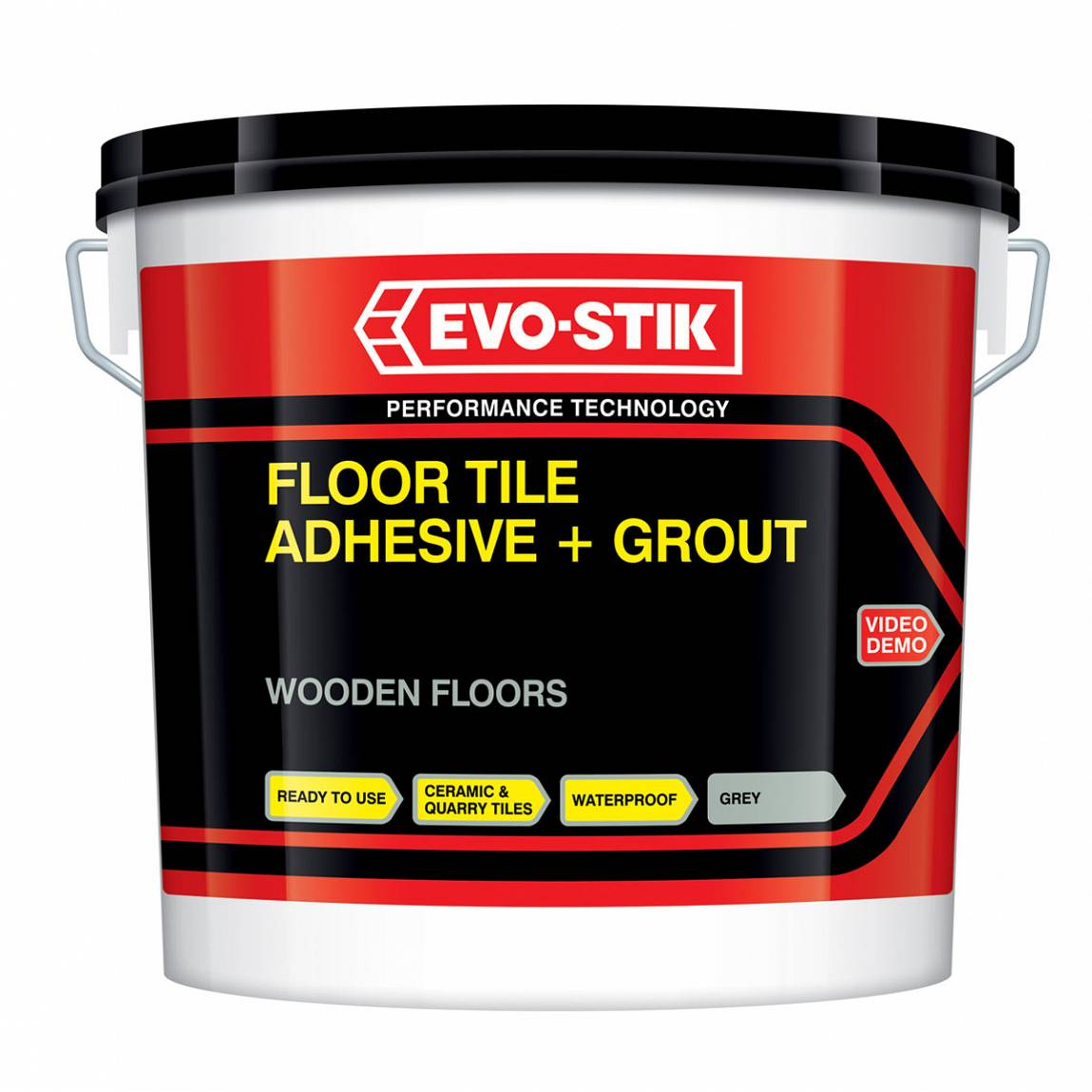 Bathroom Tile Adhesive And Grout: Wooden Floor Adhesive & Grout Large Grey 5L