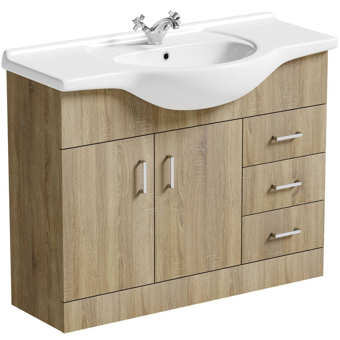 Image of Sienna Oak 105 Vanity Unit & Basin