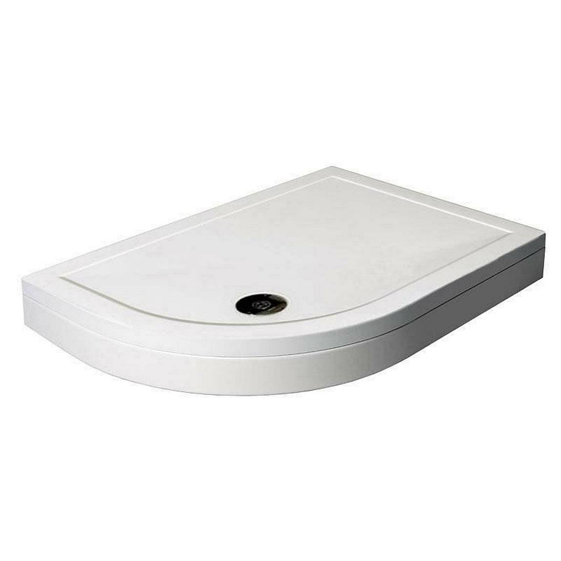 Image of Offset Quadrant Stone Shower Tray & Riser Kit 1200 x 900 LH