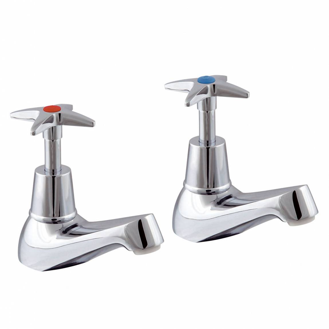 "Image of Bibury 3/4"" Bath Taps with Cross Handle"