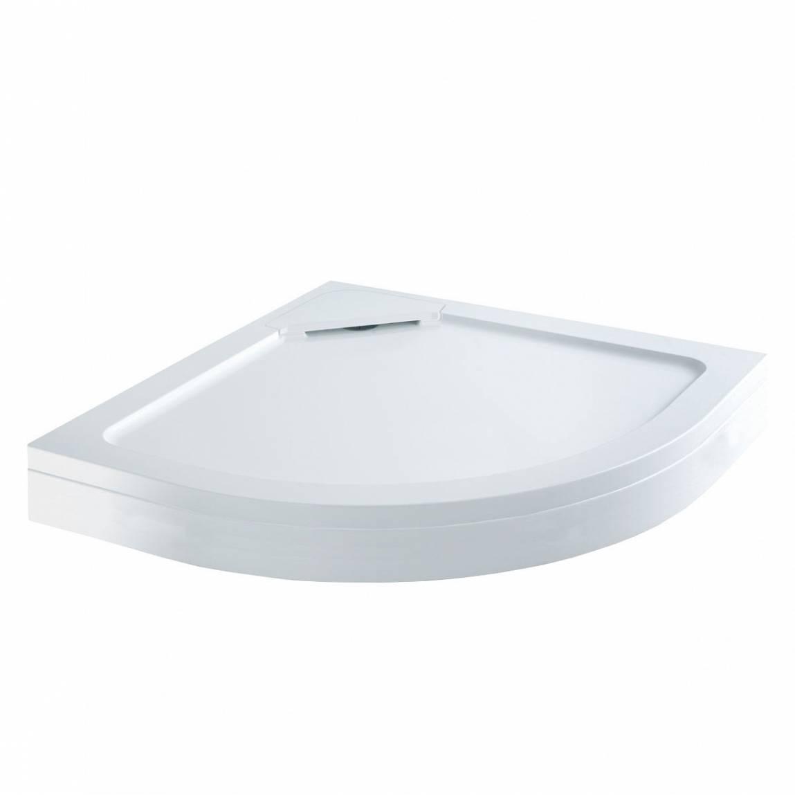 Image of Designer Quadrant Stone Shower Tray & Riser Kit 900 x 900