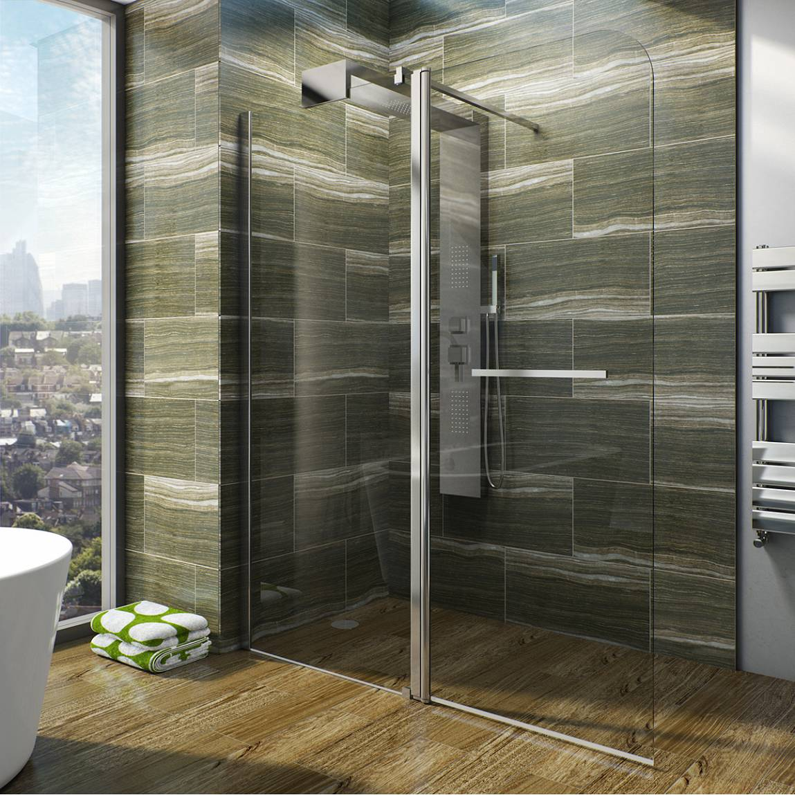 Image of V6 Designer Shower System 1600 x 800