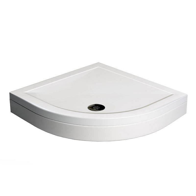 Image of Quadrant Stone Shower Tray & Riser Kit 800 x 800