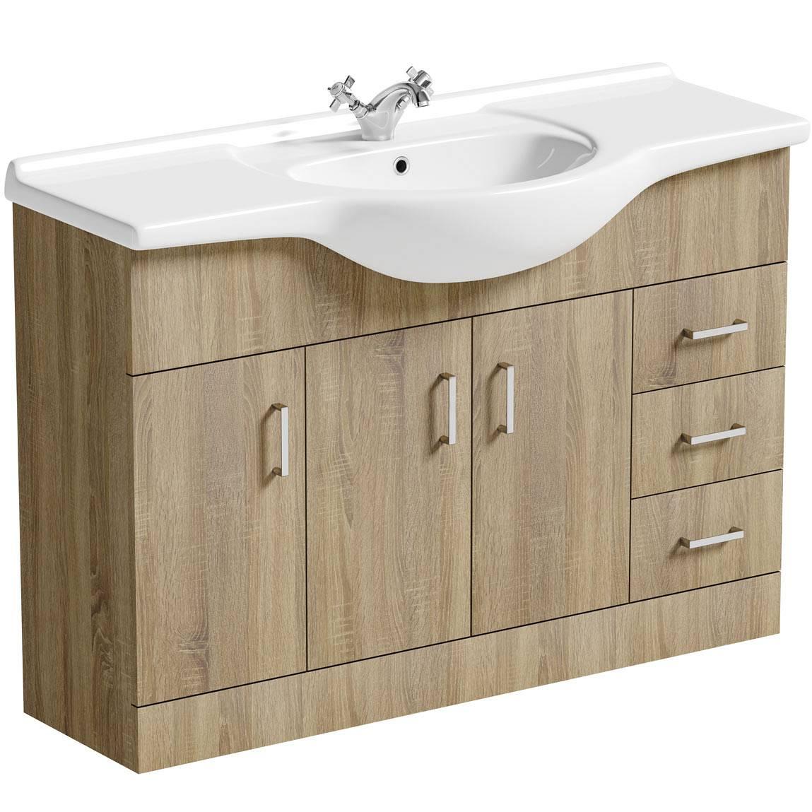 Image of Sienna Oak 120 Vanity Unit & Basin