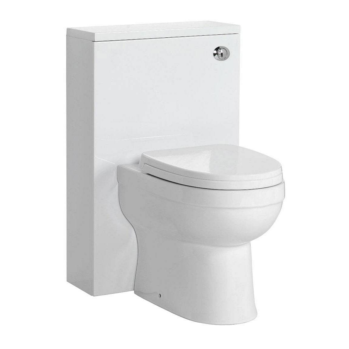 Image of Energy Back To Wall Toilet inc Seat & Slimline White Unit