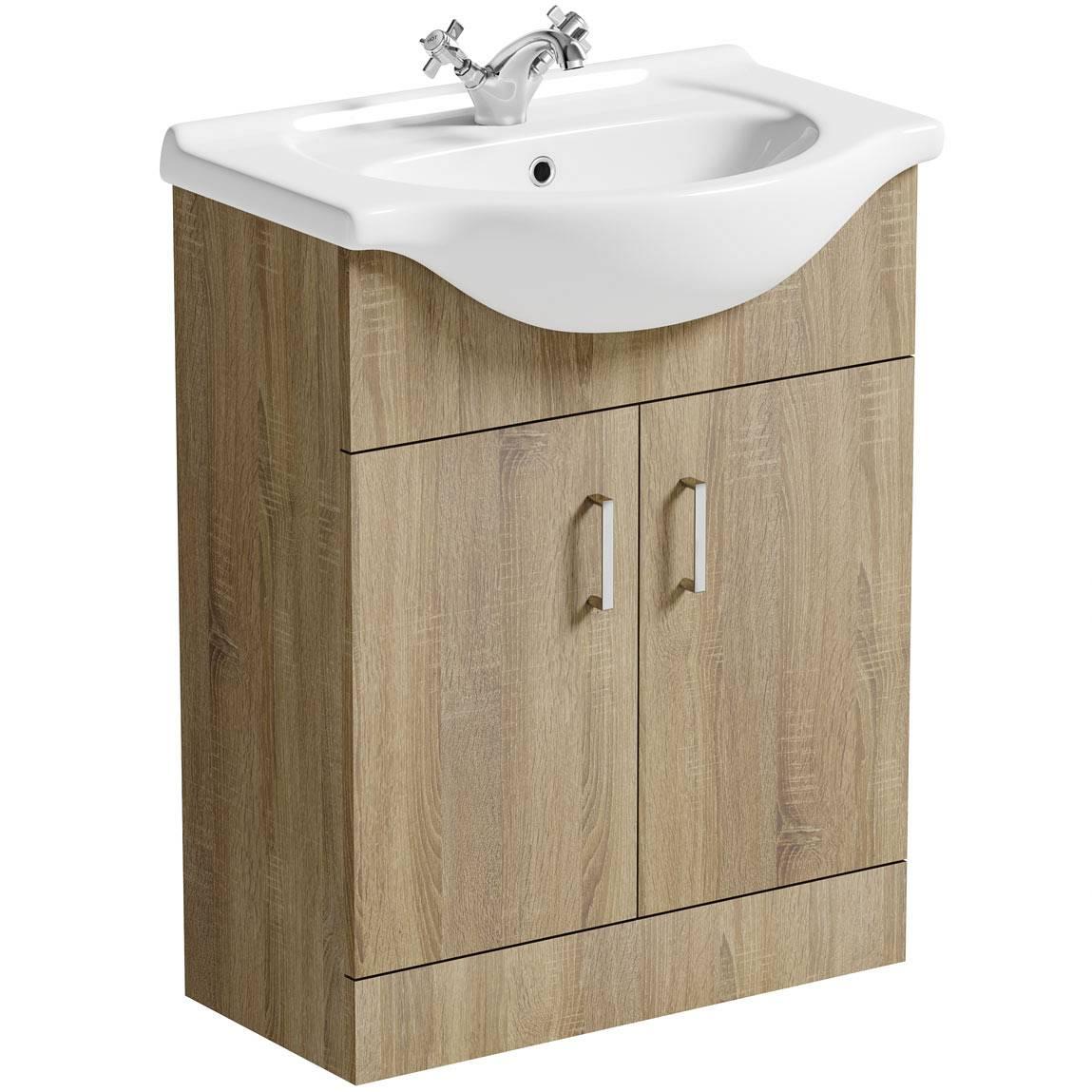 Image of Sienna Oak 65 Vanity Unit & Basin