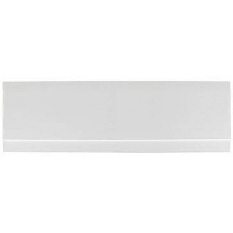Image of Gloss White Wooden Bath Side Panel 1700