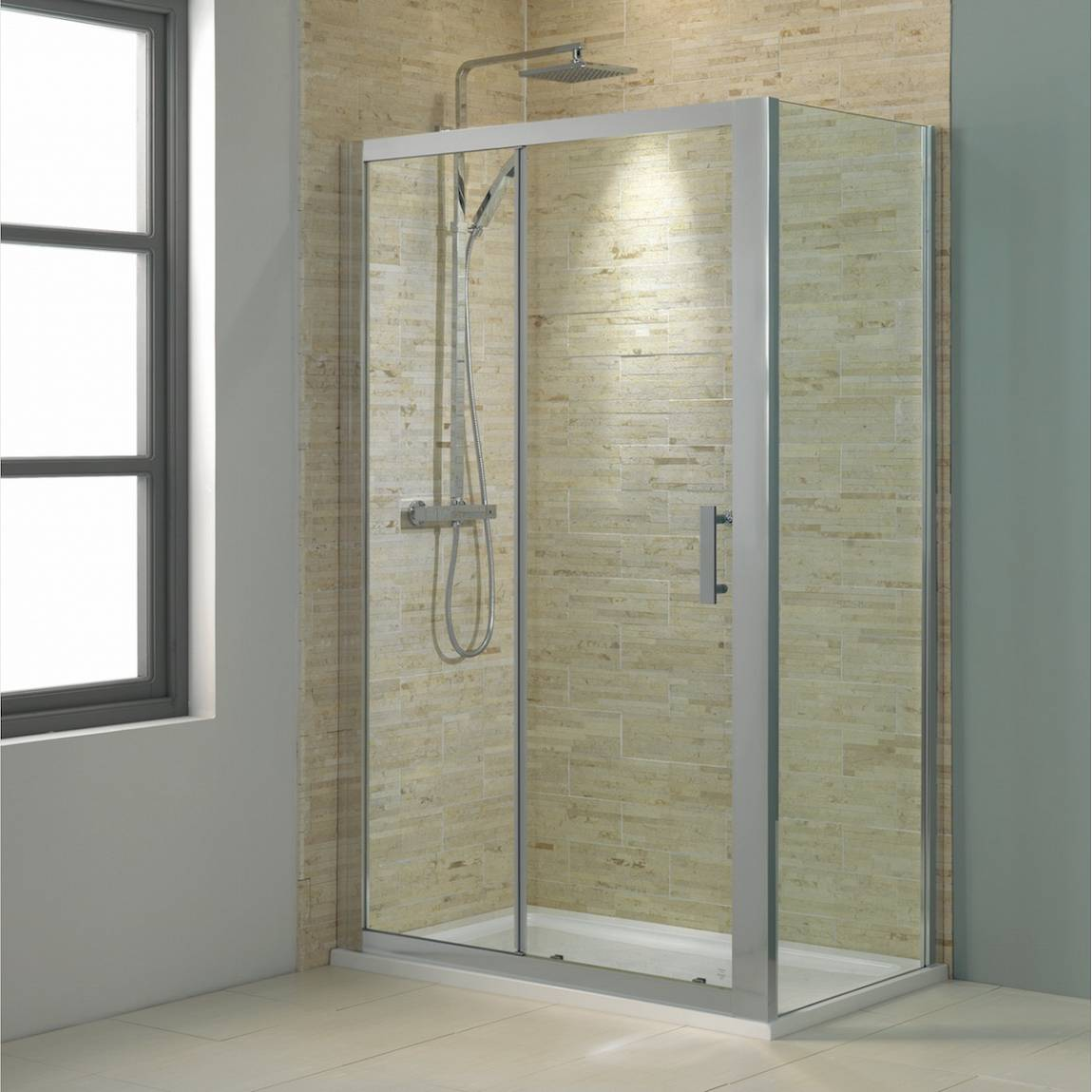 Image of V8 Framed Sliding Shower Enclosure 1200 x 800