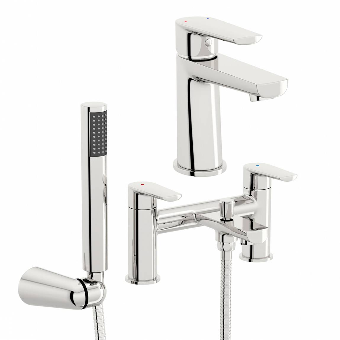 Image of Langdale Basin and Bath Shower Mixer Pack