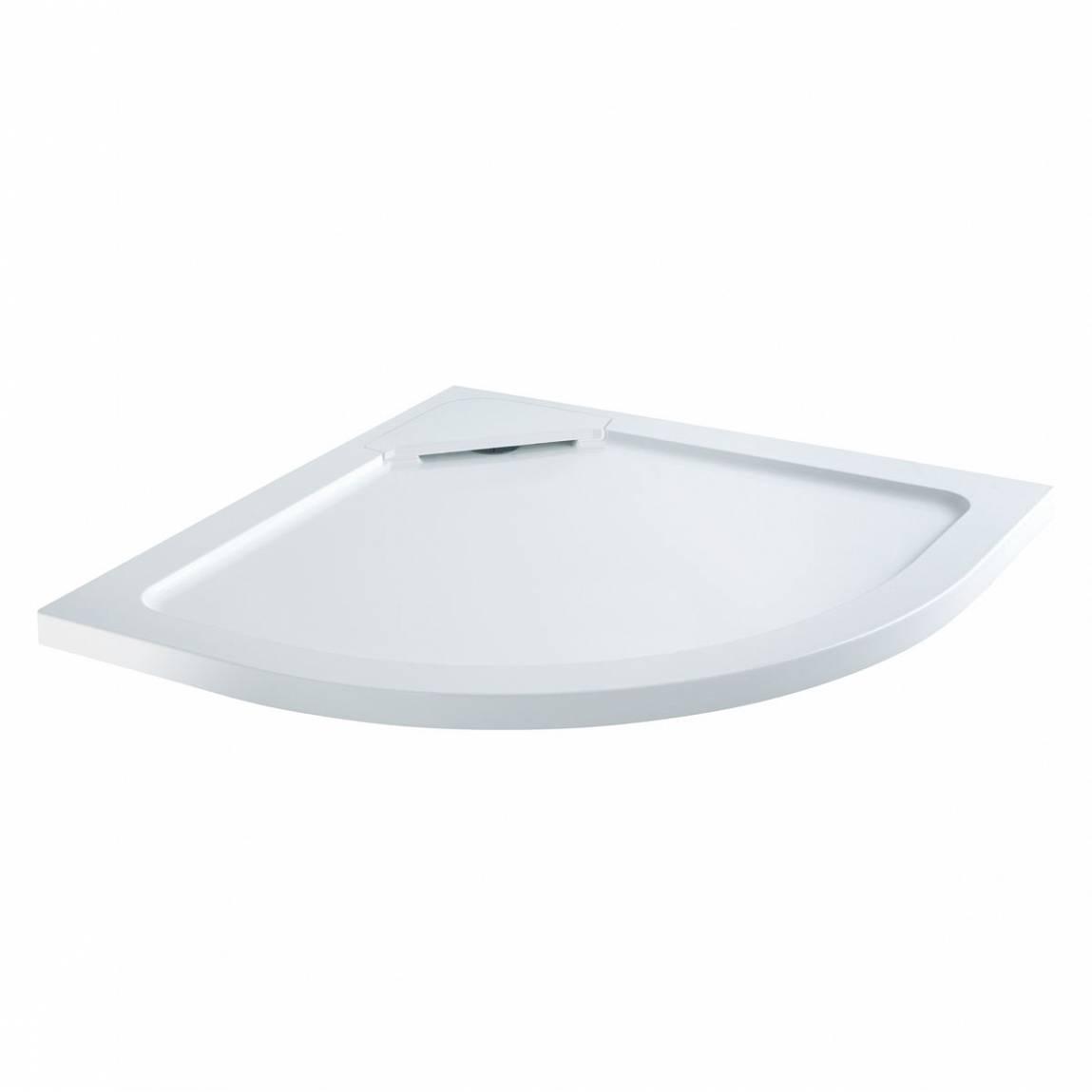 Image of Designer Quadrant Stone Shower Tray 800 x 800