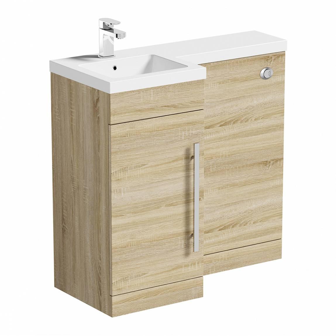 Image of MySpace Oak Combination Unit LH including Concealed Cistern