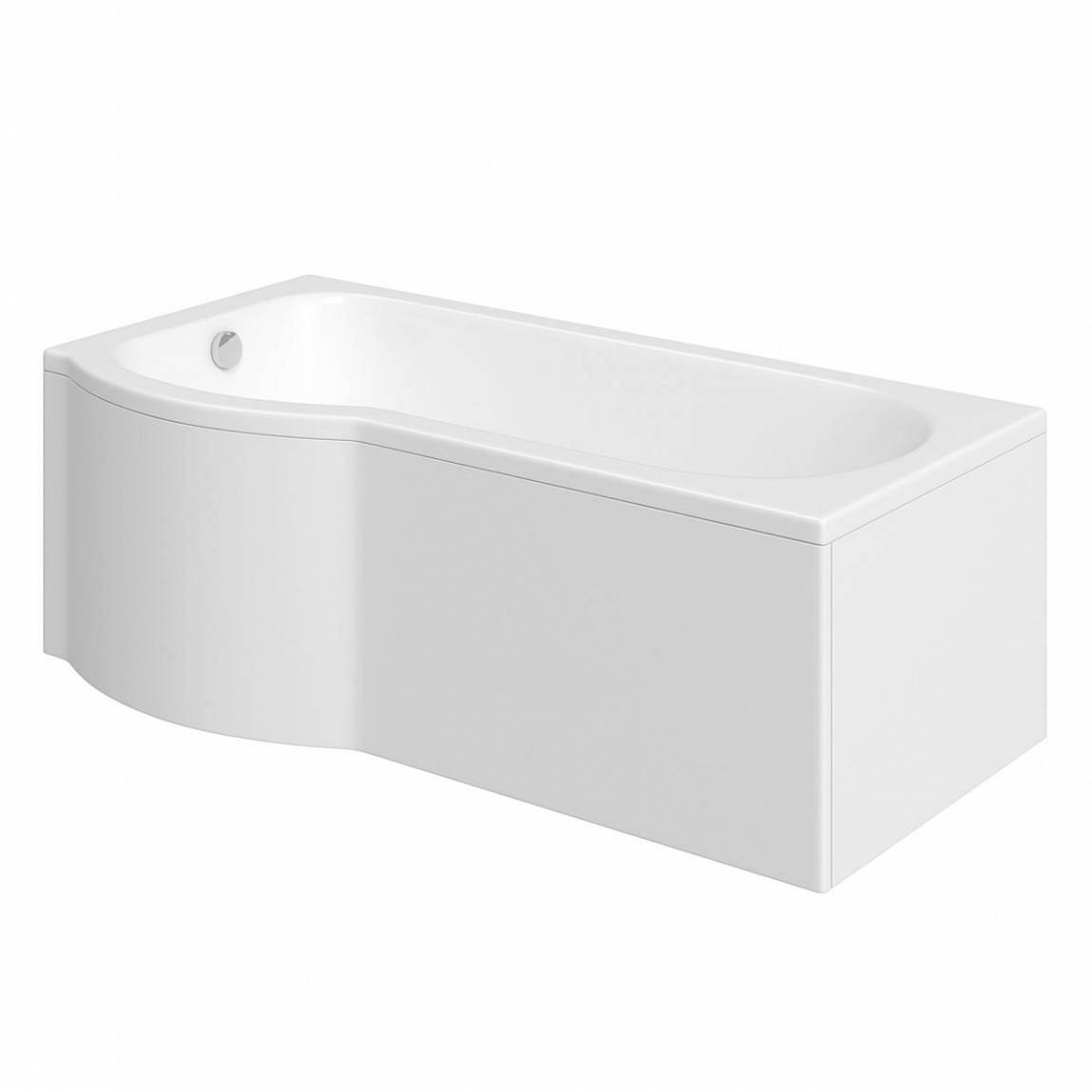 Evesham shower bath 1500 x 800 lh for Small baths 1500