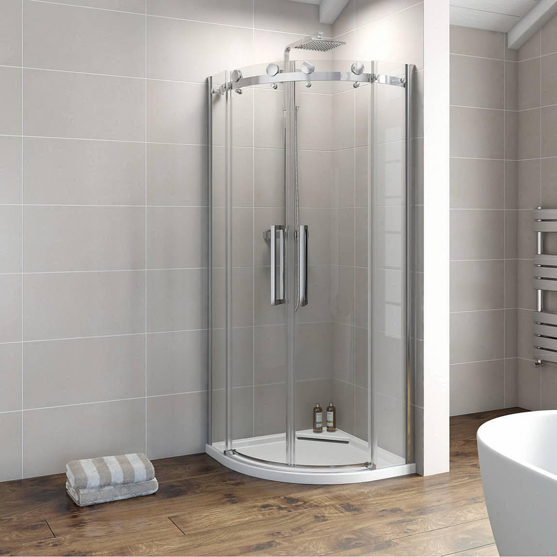 Image of V8+ 8mm Frameless Quadrant Shower Enclosure 800