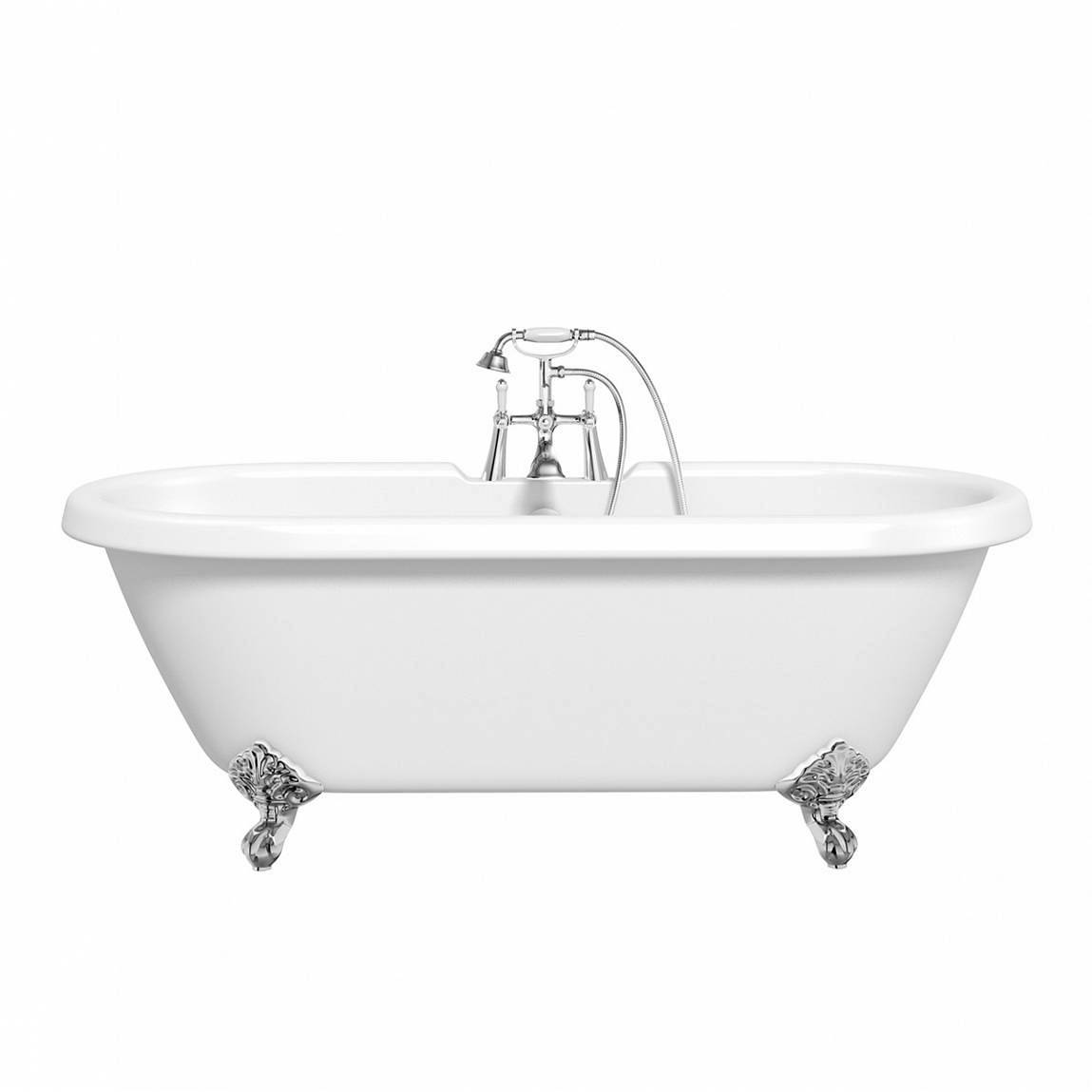 Image of Shakespeare Roll Top Bath Small with Ball Feet